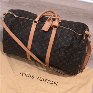 Louis Vuitton Keepall 55 duffle bag with strap